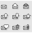 Envelopes Icons as Labels vector image vector image
