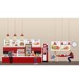Fast food restaurant interior vector image