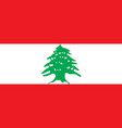 flag of lebanon official colors and proportions vector image vector image