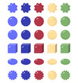geometric shapes flat icons vector image vector image