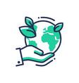 green earth - modern single line icon vector image vector image
