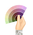 hand and color table vector image vector image