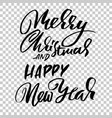 happy new year and merry christmas holiday modern vector image