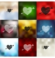 heart icon on blurred background vector image