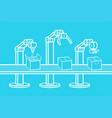 industrial robot arm vector image vector image