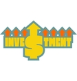 Investment grow up sticker vector image vector image