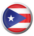 isolated flag of puerto rico vector image vector image