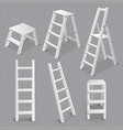 ladders realistic set transparent vector image