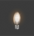 light bulb or electric lamp 3d realistic vector image vector image