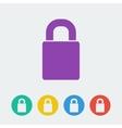 lock flat circle icon vector image vector image