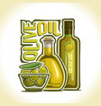logo of olive oil vector image vector image