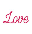 love red lettering vector image