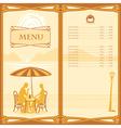 menu sail vector image