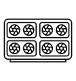 mining farm computer icon outline style vector image vector image