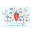Modern Flat thin Line design Augmented reality vector image