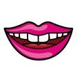 mouth cartoon icon vector image vector image
