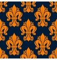 Orange victorian fleur-de-lis seamless pattern vector image vector image