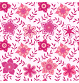 ornate flowers seamless textureendless pattern vector image