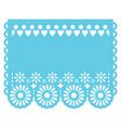 papel picado template design in aqua blue vector image vector image