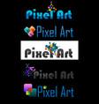 pixel art logo vector image vector image