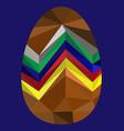 polygon image easter egg vector image vector image