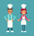 Profession Concept Cook Male and Female Cartoon vector image