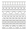 realistic detailed 3d steel truss girder elements vector image vector image