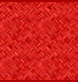 red geometrical diagonal striped square mosaic vector image vector image