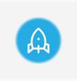 rocket icon sign symbol vector image vector image