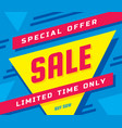 sale concept banner vector image vector image