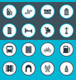 set of simple infrastructure vector image vector image