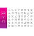 set thin line icons graphic design vector image