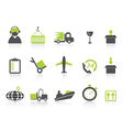 Simple logistics and shipping icons green series vector | Price: 1 Credit (USD $1)