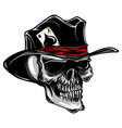 skull with top hat and ace of spades vector image vector image