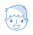 smiling handsome icon boy vector image vector image