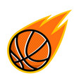 sport ball fire basketball vector image vector image