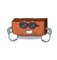 super cool brick character cartoon style vector image