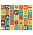 Travel Icons Set Flat design style vector image