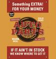 vintage auto parts flyer template garage poster vector image vector image