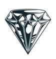 vintage elegant diamond monochrome concept vector image