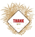 Vintage Thank You Card Stylish floral background vector image