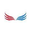 wing symbol vector image vector image