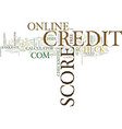 z online credit score text background word cloud vector image vector image