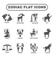 Zodiac Icons Set vector image vector image