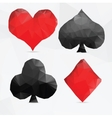 Playing cards suit in modern triangle style vector image
