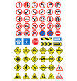 road signs icons set vector image