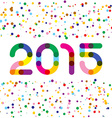 2015 happy new year graphics Links style digits vector image