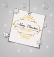 greeting card with a background made of snowflakes vector image