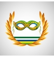 mask carnival brazil olympic games emblem vector image
