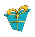 color gift box ribbon decorative sketch vector image